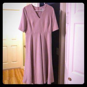 Size 10 LKBennett rose wool dress
